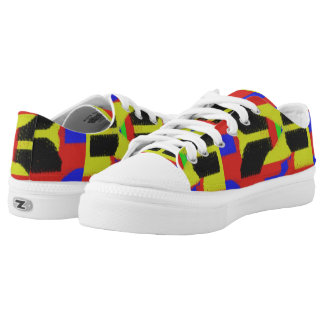Colourful abstract trendy pattern low tops