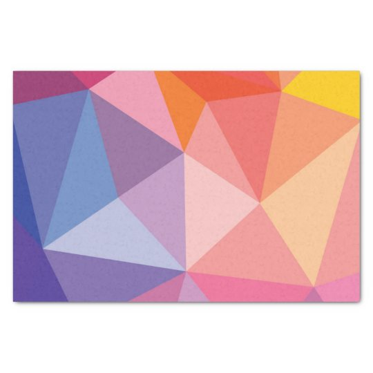 Colourful Abstract Triangle Pattern Tissue Paper