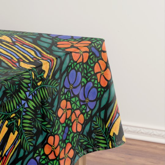 Colourful Abstract Tropical Pattern Tablecloth