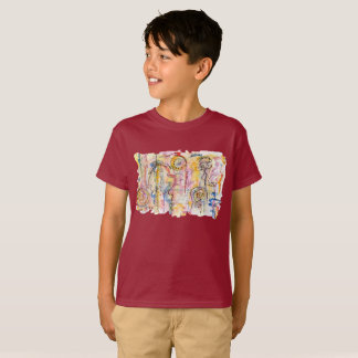 Colourful abstract watercolour painting T-Shirt