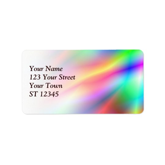 Colourful Abstraction Address Label