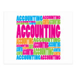 Colourful Accounting Postcard