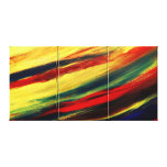 Colourful Acrylic Abstract Triptych Wrapped Canvas Gallery Wrap Canvas