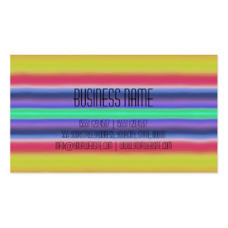 Colourful Acrylic Rainbow Abstract Pack Of Standard Business Cards