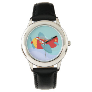 Colourful & Adorable Cartoon Aeroplane for kids Watches