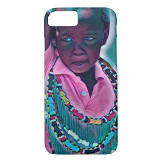 Colourful African Maasai kid  iPhone / iPad case