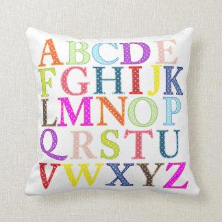 Colourful Alphabet Pillow