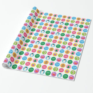 Colourful and Bright Merry Christmas Gift Wrap Wrapping Paper