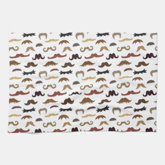 Colourful and Cool Moustaches Pattern Tea Towel