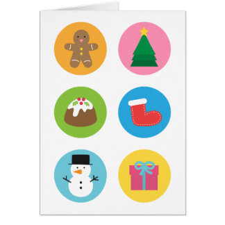Colourful and Cute, Merry and Bright Christmas Card