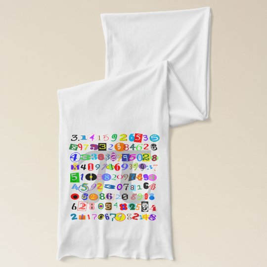 Colourful and Fun Depiction of Pi Calculated Scarf