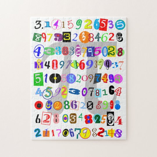 Colourful and Fun Depiction of Pi Jigsaw Puzzle