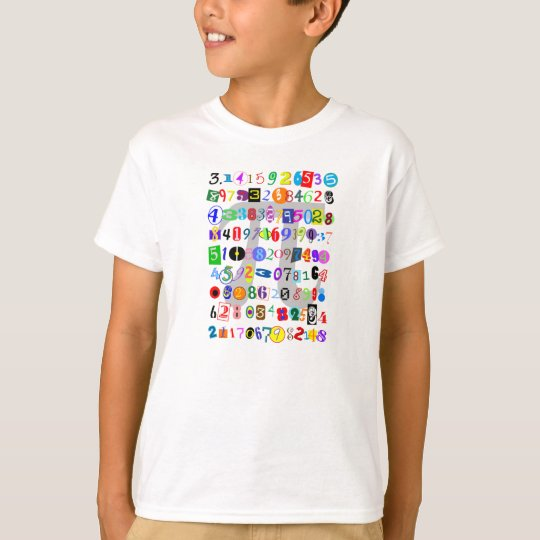 Colourful and Fun Depiction of Pi T-Shirt