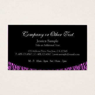 Colourful and Wild Business Card