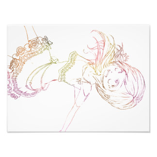 Colourful Anime Popstar Cropped - White Background Photograph