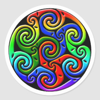Colourful Antique Celtic Art - Intricate, Round Sticker