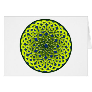 Colourful Antique Celtic Art Tees and Gifts Greeting Card
