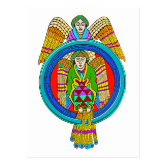 Colourful Antique Style Celtic Art - Great Gift! Postcard