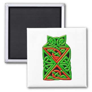 Colourful Antique Style Celtic Art Tees and Gifts Square Magnet