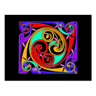 Colourful Antique Style Celtic Art Tees and GIfts Postcard