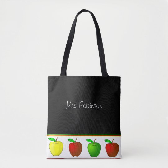 Colourful Apples Teachers Tote Bag