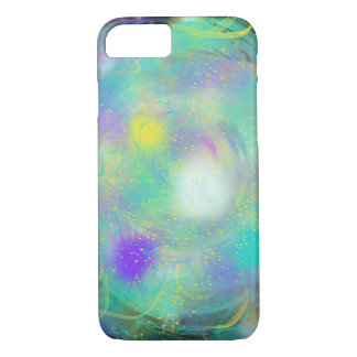Colourful Aqua Blue Abstract Art Painting Design iPhone 8/7 Case