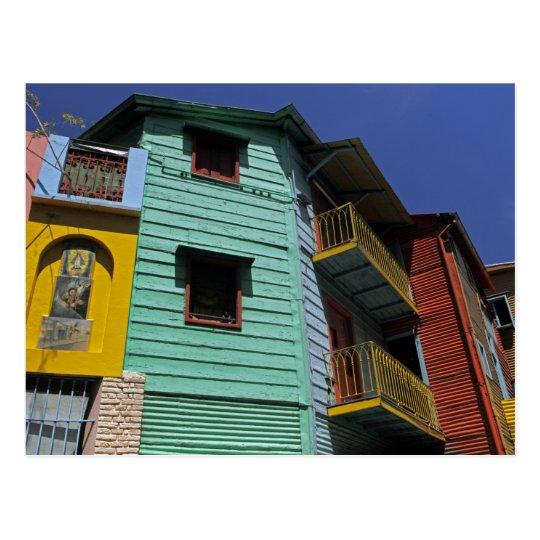 Colourful architecture of La Boca neighbourhood Postcard