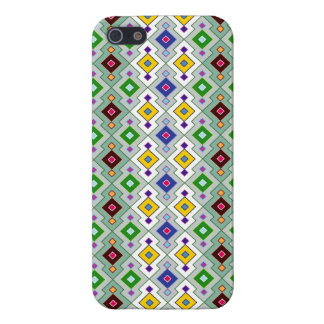 Colourful Argyle Rhombic Diamond Pattern iPhone 5/5S Cases
