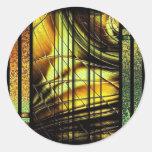 Colourful art Deco style design Stickers
