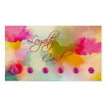 Colourful Artistic Loyalty Punch Card Business Pack Of Standard Business Cards