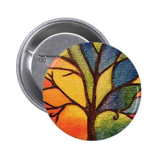Colourful Artistic Tree Button