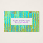 Colourful Artistic Turquoise Blue Bamboo Nature Business Card