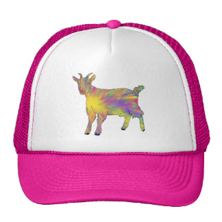 Colourful Artsy Goat Design Cap
