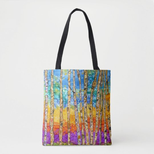 Colourful Aspen Trees Tote Bag