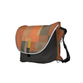 Colourful asymmetry messenger bags