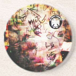 Colourful Autographs Coaster