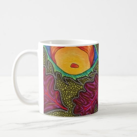 Colourful Autumn Fall seeds and leaves Coffee Mug