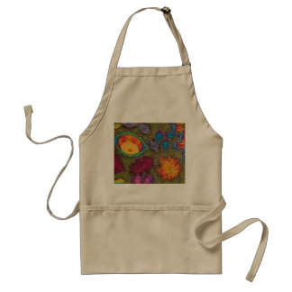 Colourful Autumn Fall seeds and leaves Standard Apron