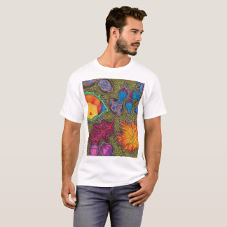 Colourful Autumn Fall seeds and leaves T-Shirt