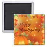 Colourful Autumn Leaves - Thanksgiving Magnet