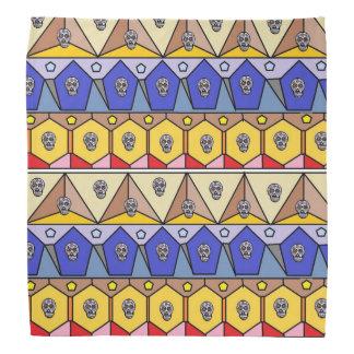 Colourful Aztec Pattern With Mini Sugar Skulls Bandana