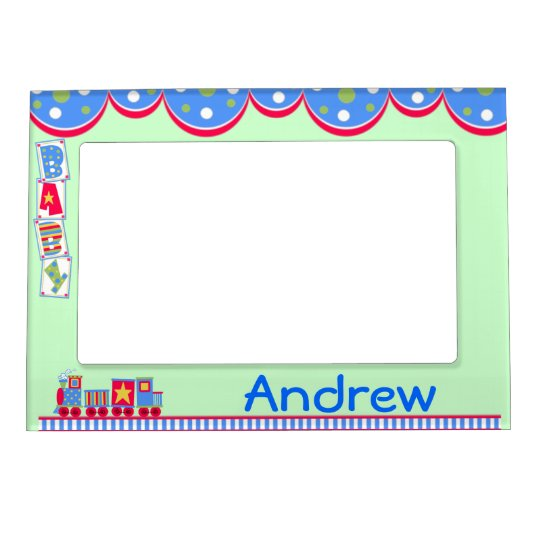 Colourful Baby Boy's Train Magnetic Frame