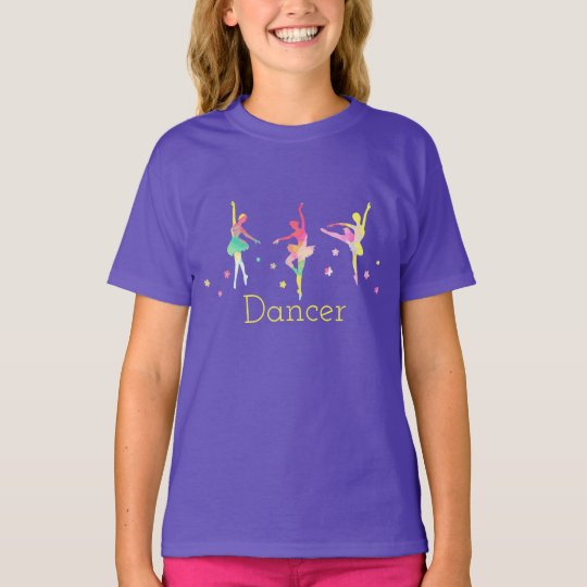 Colourful Ballerinas Dancing Tee Shirt