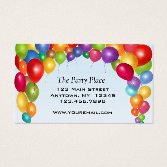 Colourful Balloon Arch Business Card