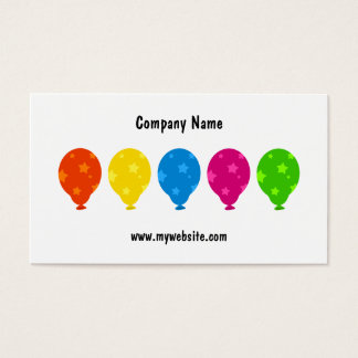 Colourful Balloons, Business Card