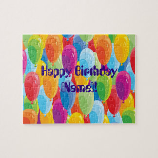 Colourful Balloons - Happy Birthday Puzzle