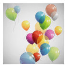 Colourful Balloons Poster
