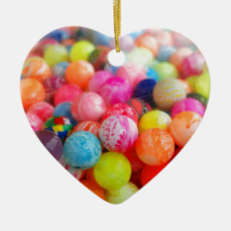 colourful balls ceramic heart decoration