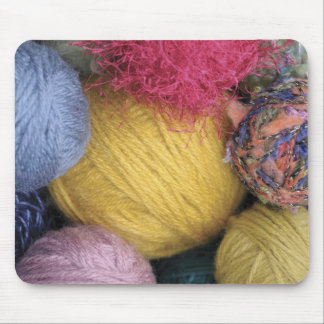 Colourful Balls of Yarn Mouse Pad