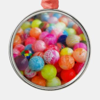 colourful balls Silver-Colored round decoration